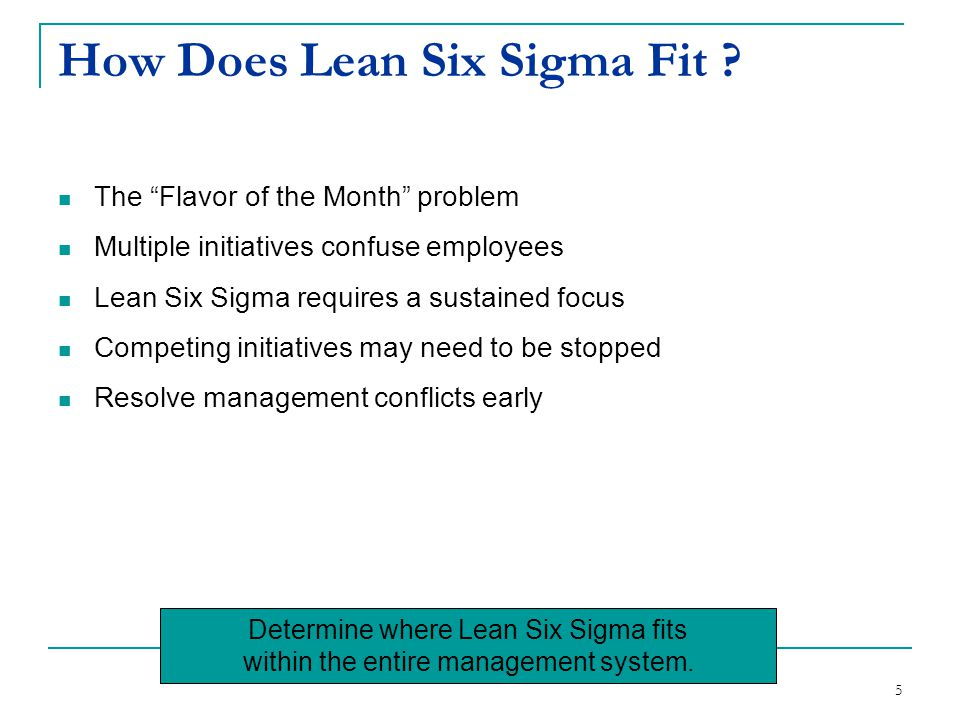 How Does Lean Six Sigma Fit