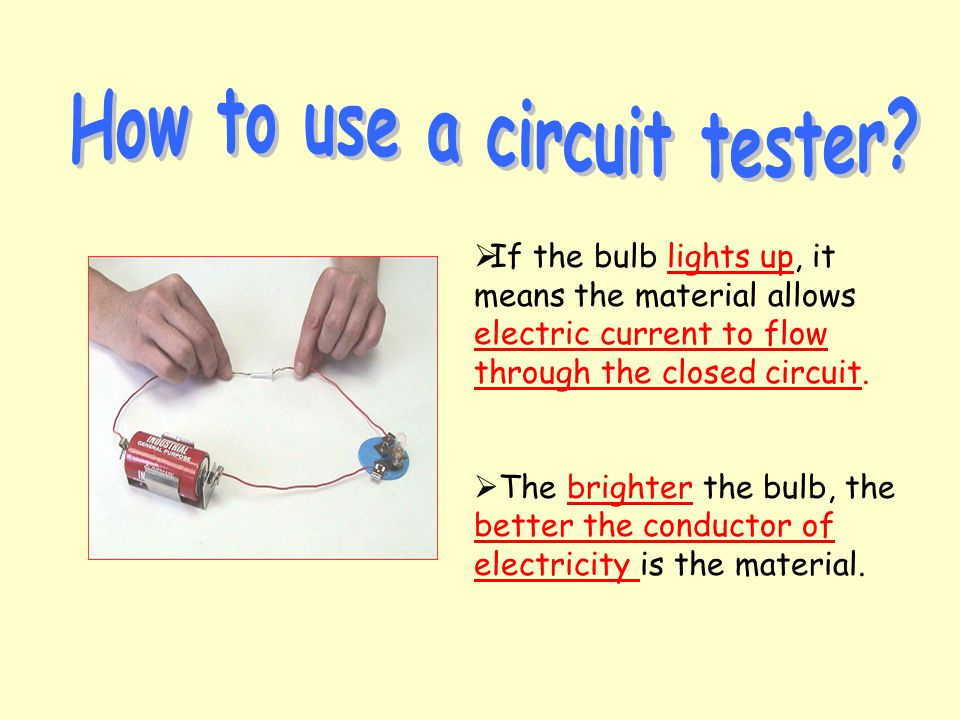 How to use a circuit tester