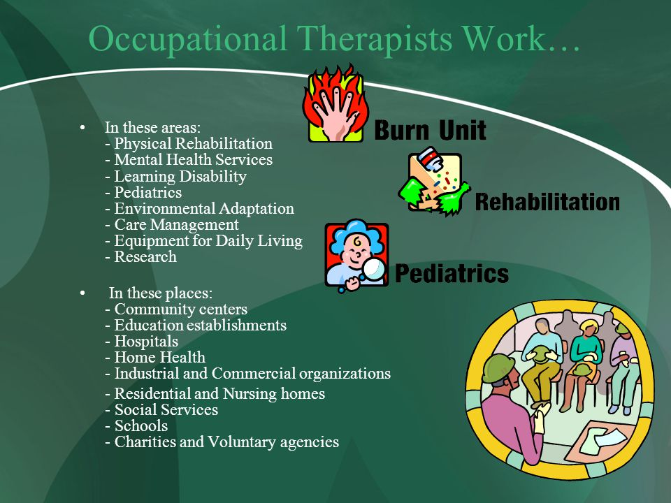 Occupational Therapists Work…