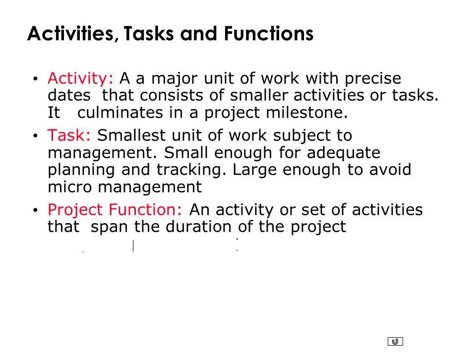 management tasks and functions
