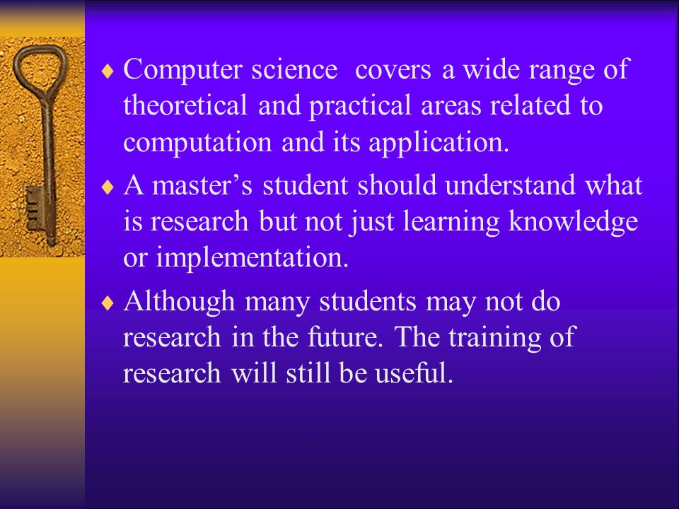 Computer science covers a wide range of theoretical and practical areas related to computation and its application.
