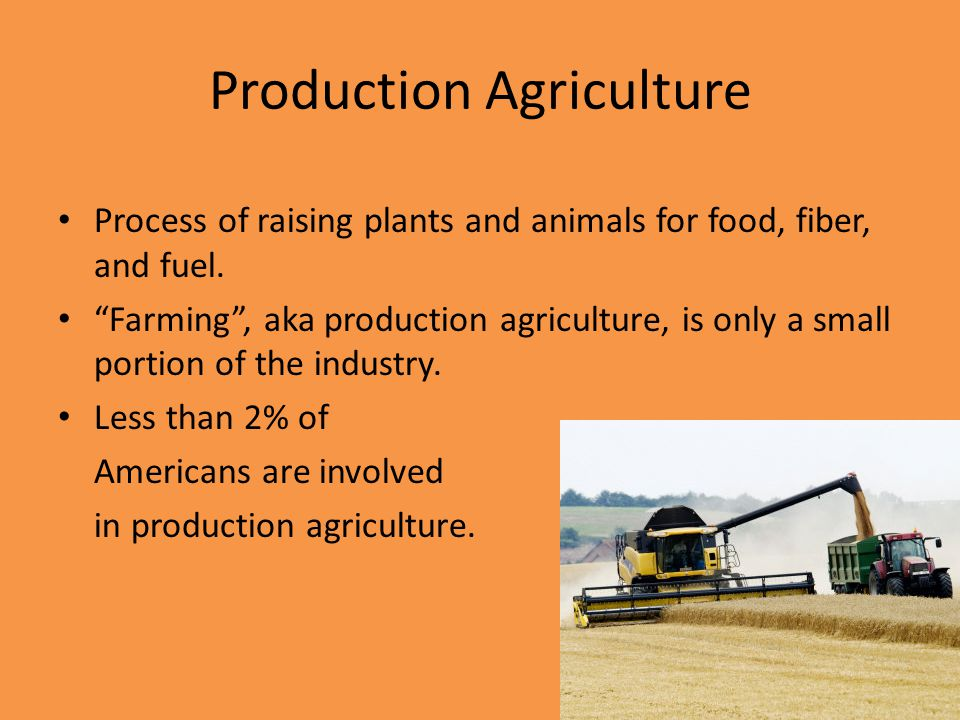 Production Agriculture