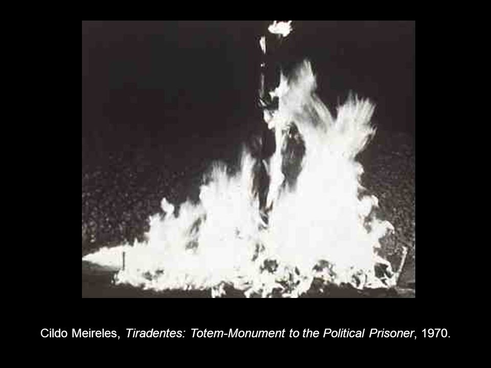 Cildo Meireles, Tiradentes: Totem-Monument to the Political Prisoner, 1970.