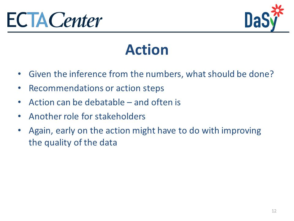 Action Given the inference from the numbers, what should be done