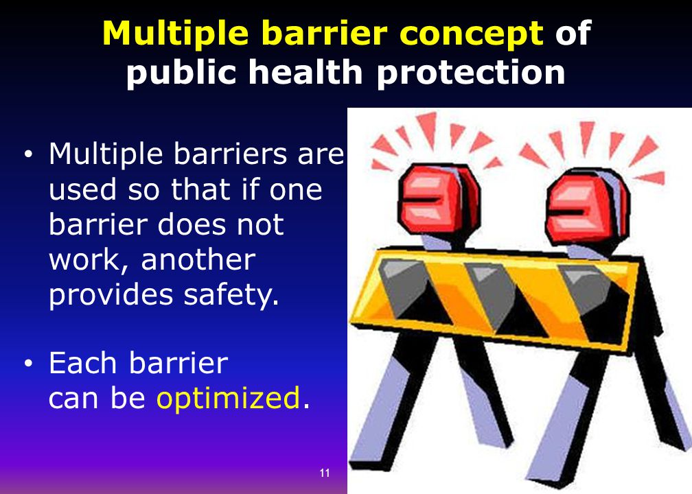 Multiple barrier concept of public health protection