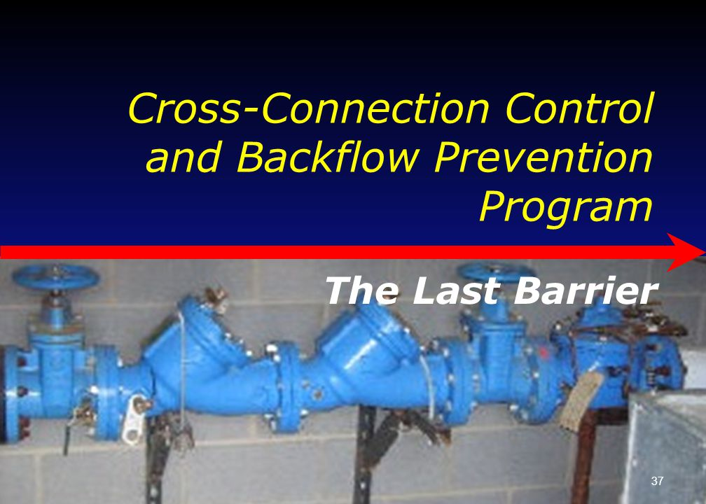 Cross-Connection Control and Backflow Prevention Program