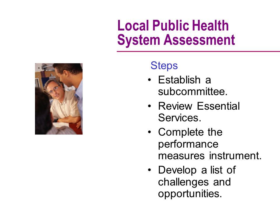 Local Public Health System Assessment