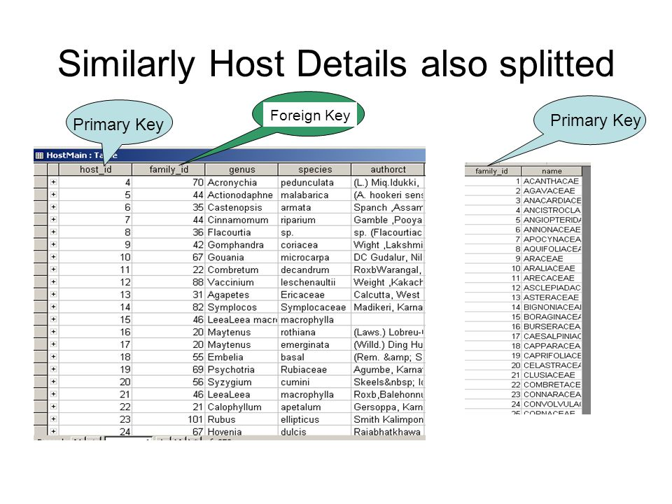 Similarly Host Details also splitted