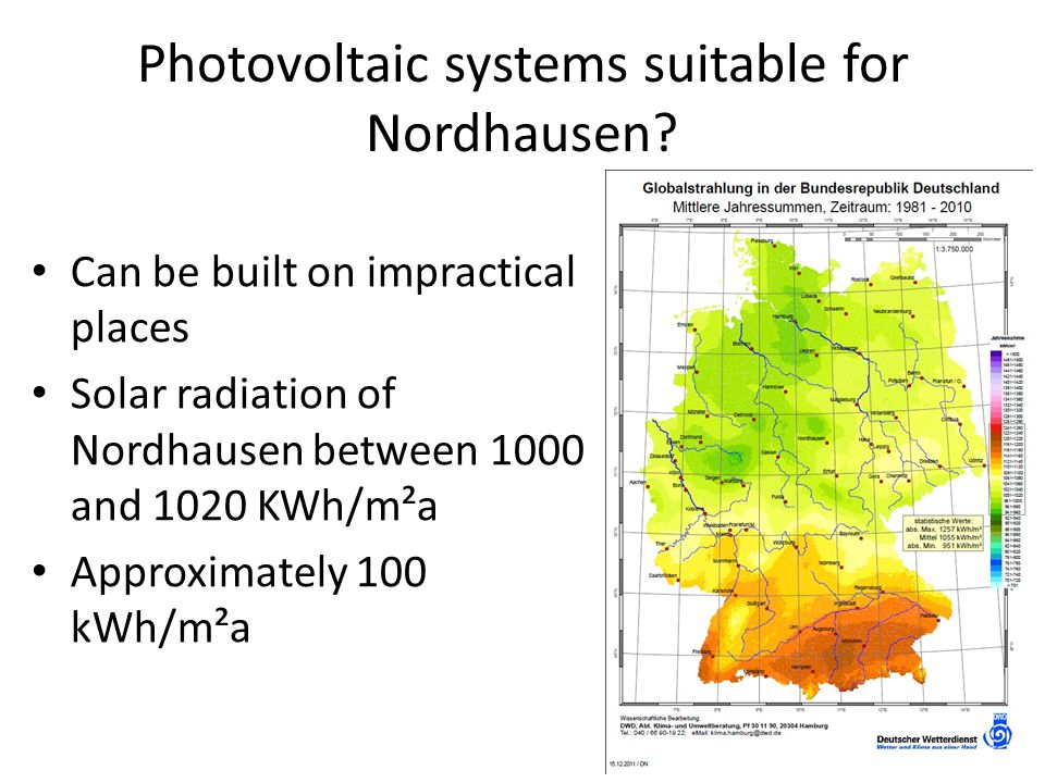 Photovoltaic systems suitable for Nordhausen