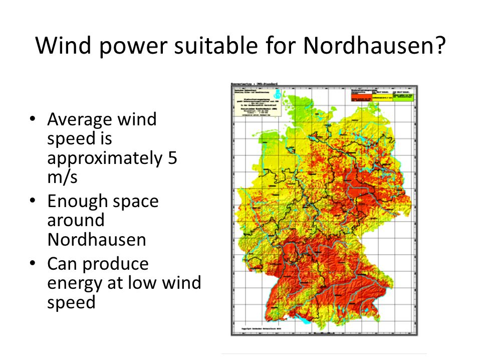 Wind power suitable for Nordhausen