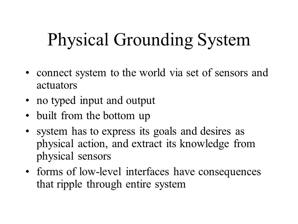 Physical Grounding System