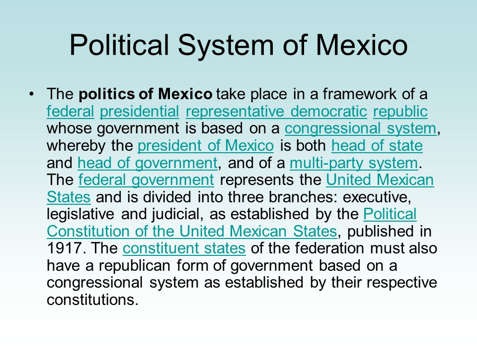 Political System of Mexico
