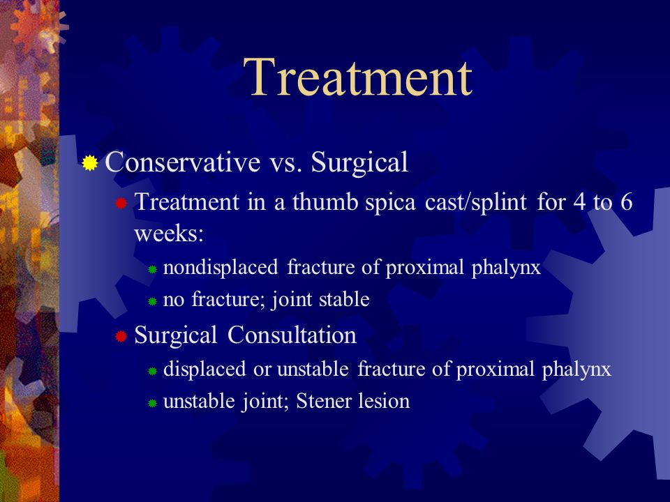 Treatment Conservative vs. Surgical