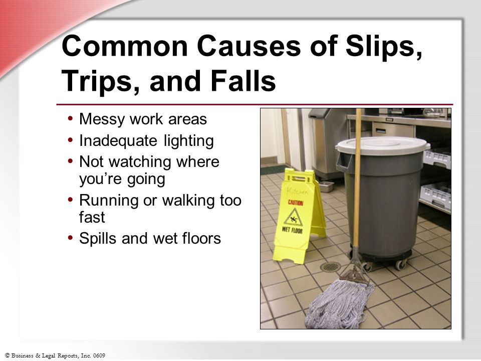 Common Causes of Slips, Trips, and Falls