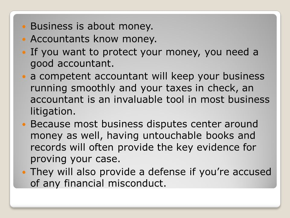 Business is about money.