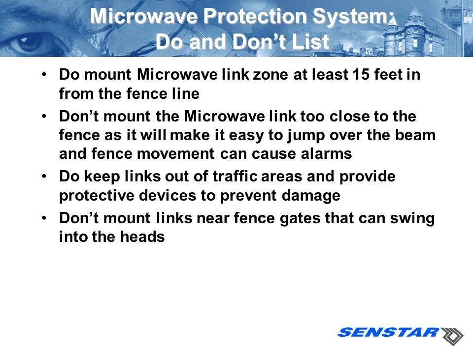 Microwave Protection System: Do and Don't List