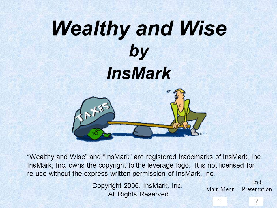 Wealthy and Wise by InsMark