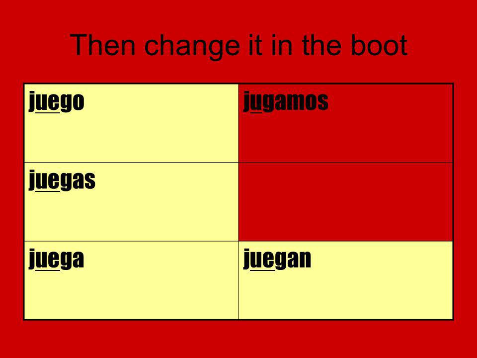 Then change it in the boot