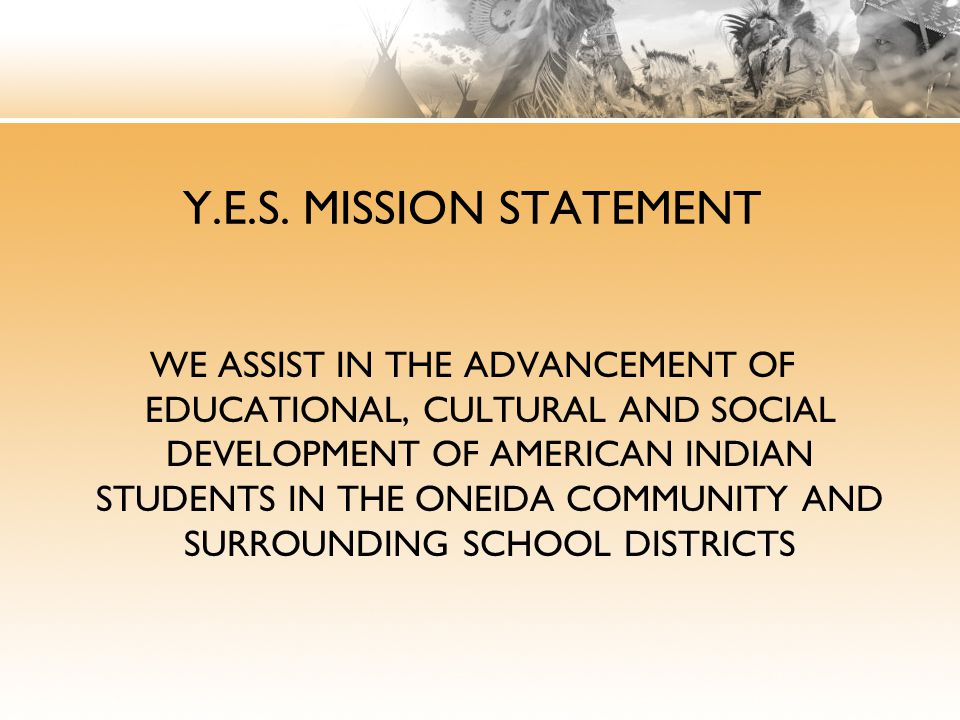 Y.E.S. MISSION STATEMENT