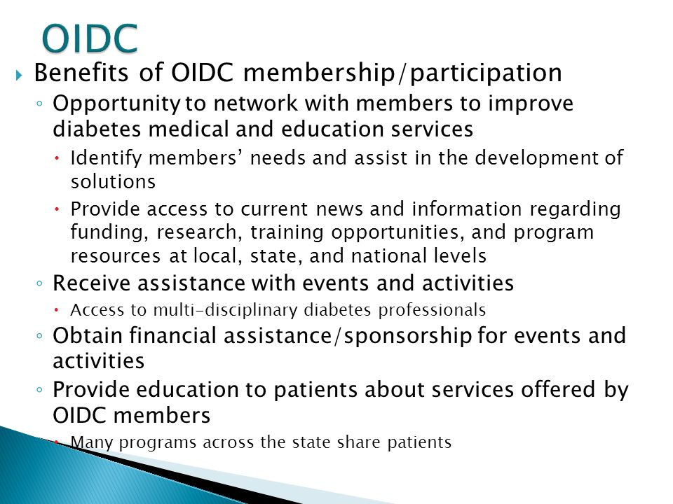 OIDC Benefits of OIDC membership/participation