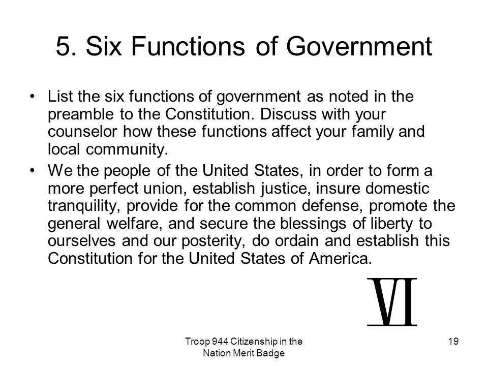 5. Six Functions of Government