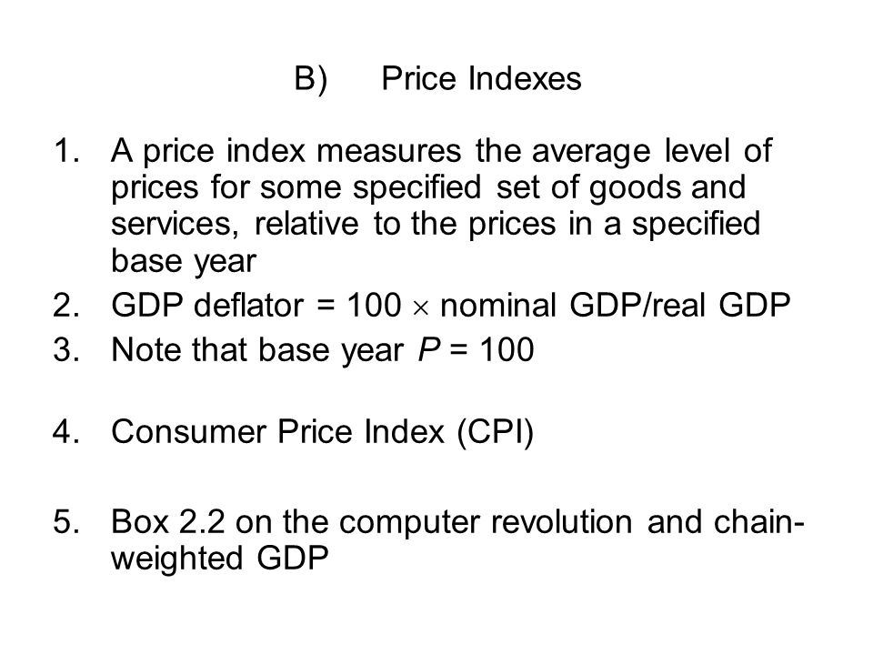 B) Price Indexes