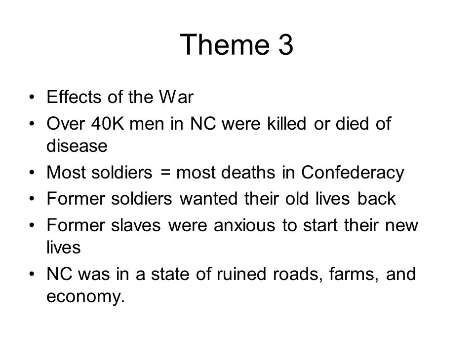 Theme 3 Effects of the War