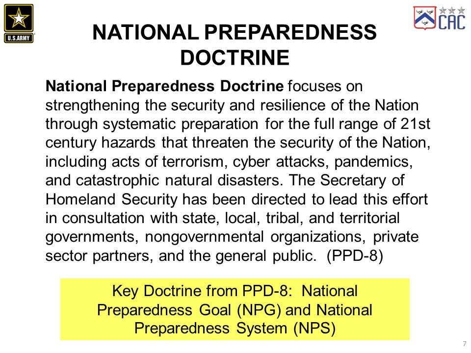 NATIONAL PREPAREDNESS DOCTRINE