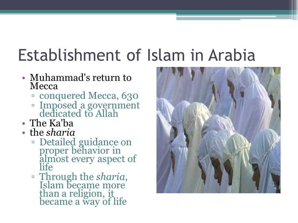 Establishment of Islam in Arabia