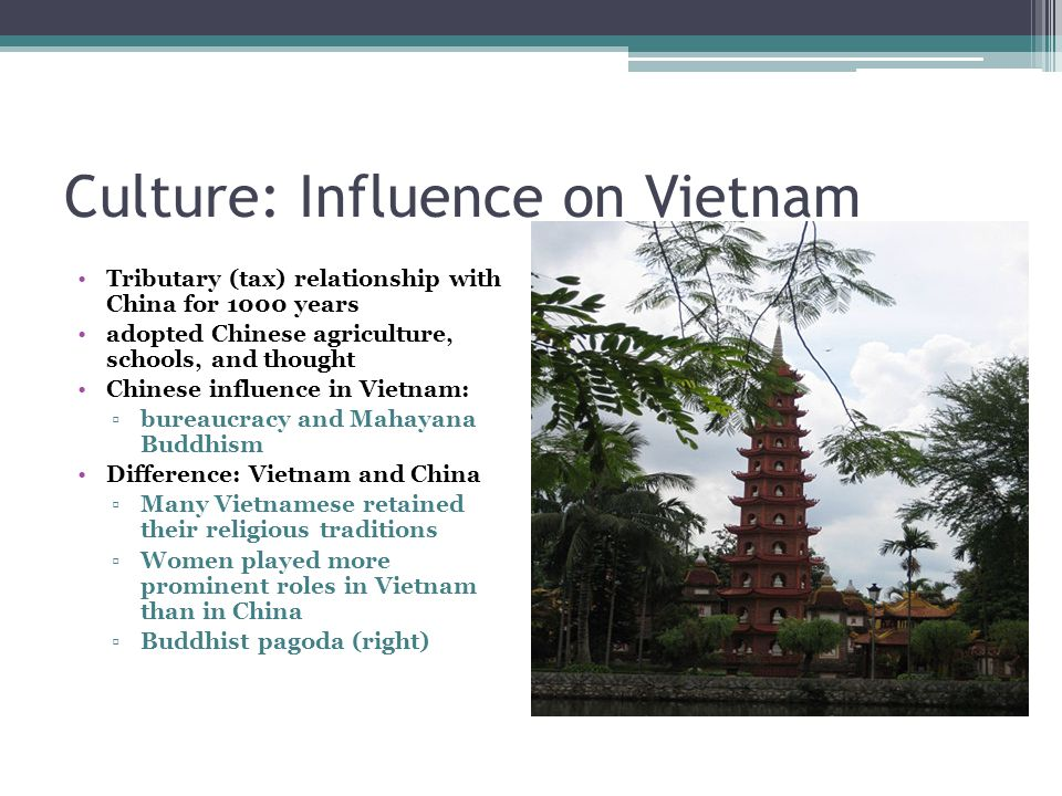 Culture: Influence on Vietnam