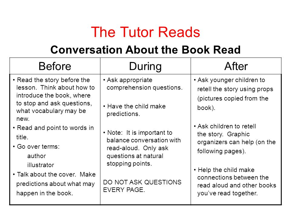 Conversation About the Book Read