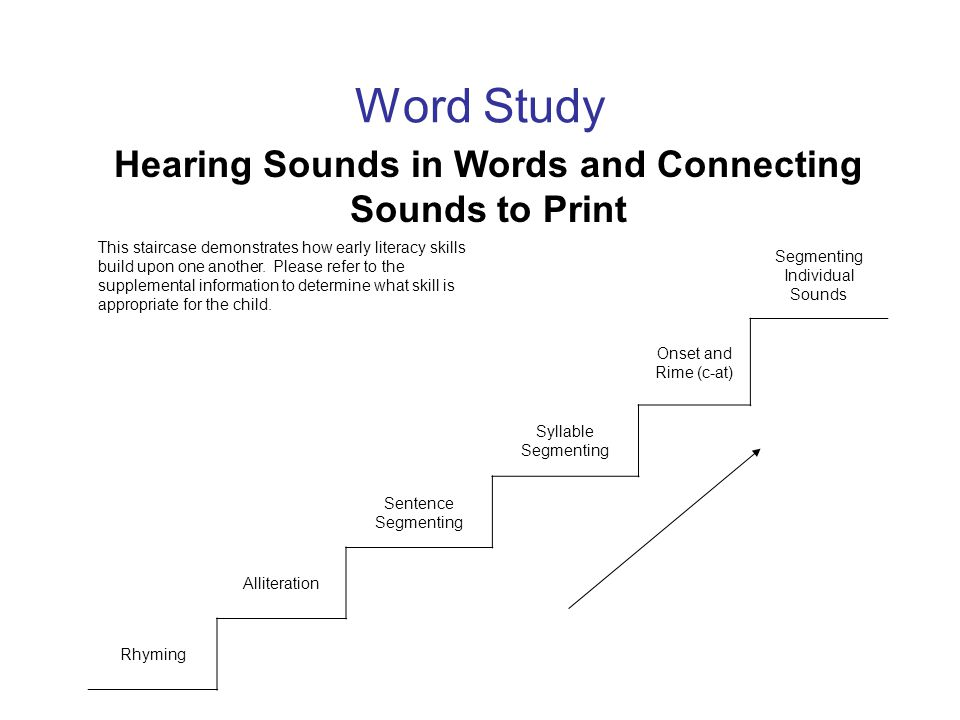 Hearing Sounds in Words and Connecting Sounds to Print