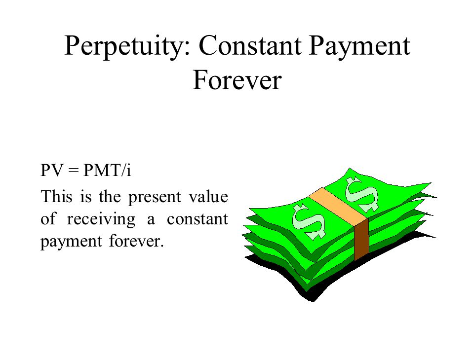 Perpetuity: Constant Payment Forever