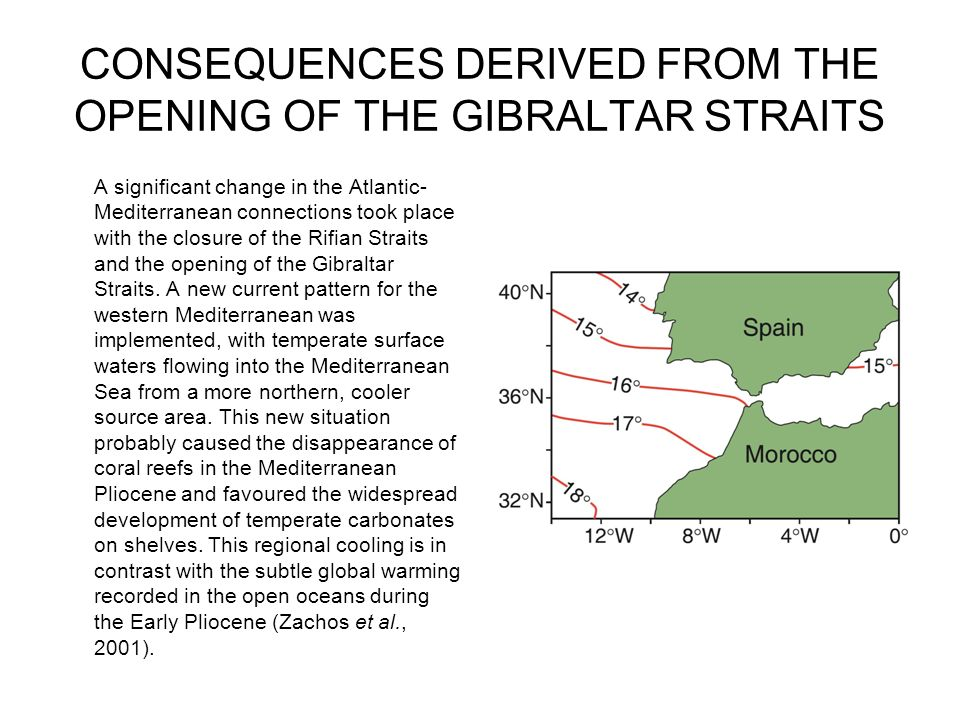 CONSEQUENCES DERIVED FROM THE OPENING OF THE GIBRALTAR STRAITS