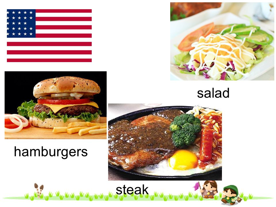 salad hamburgers steak