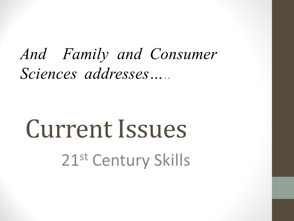 Current Issues 21st Century Skills