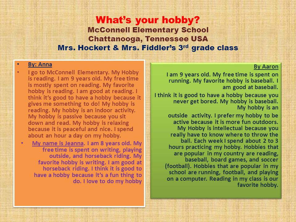 what is your hobby