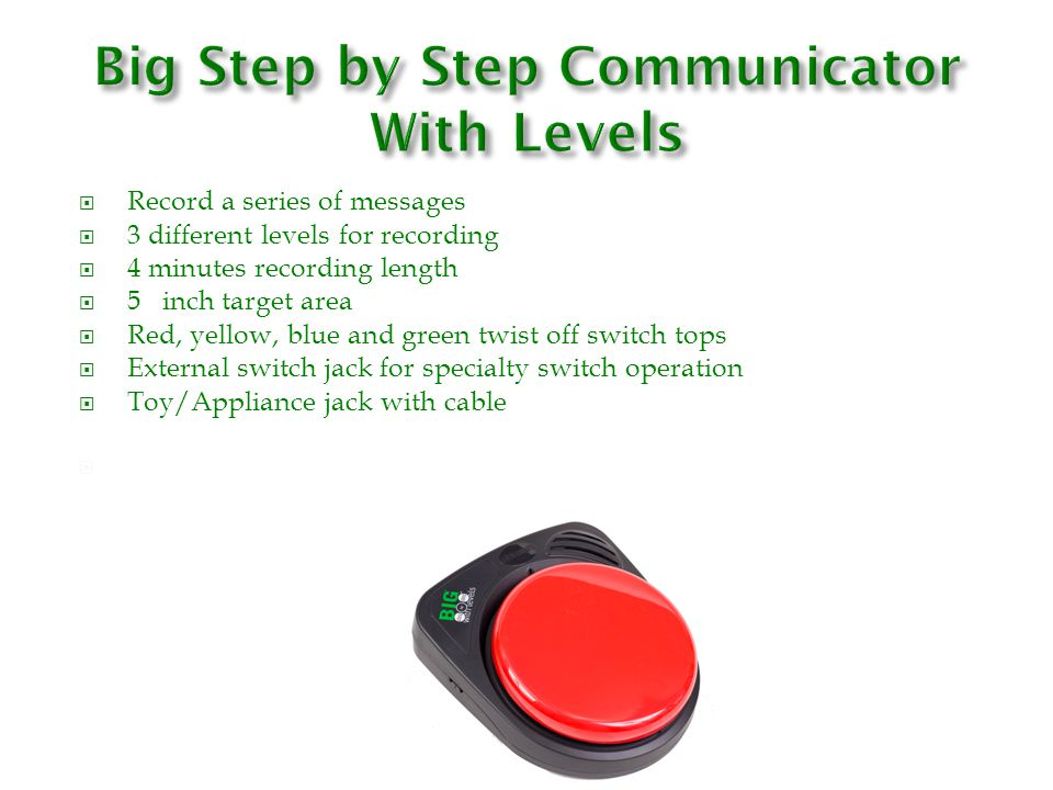 Big Step by Step Communicator With Levels