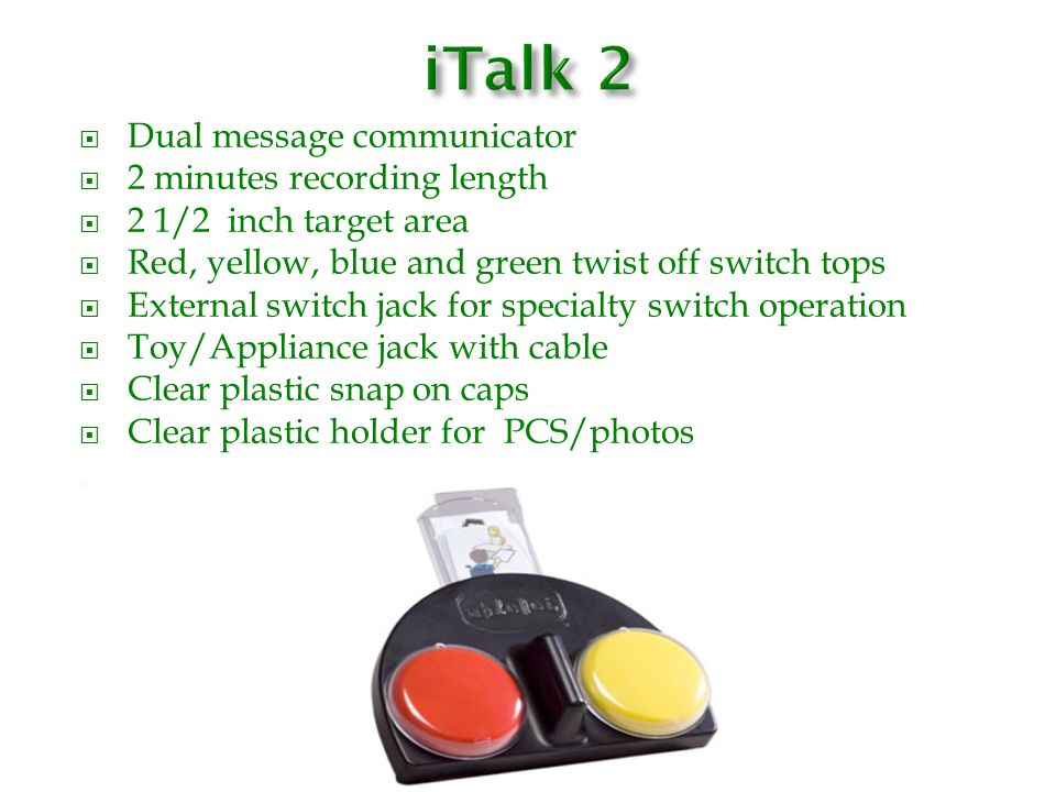 iTalk 2 Dual message communicator 2 minutes recording length
