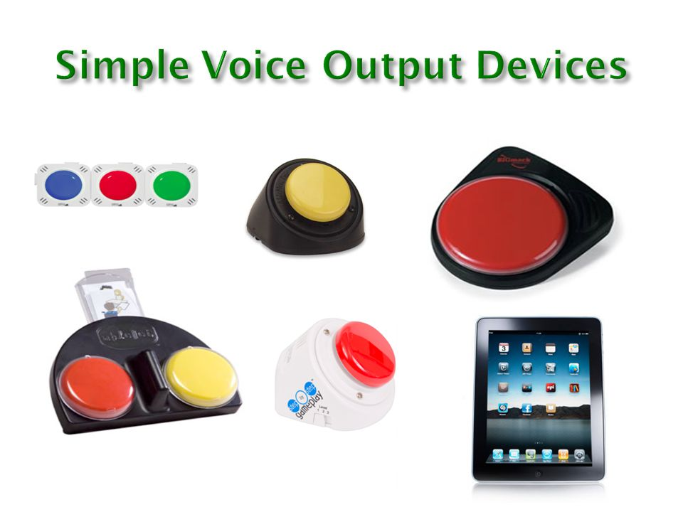 Simple Voice Output Devices