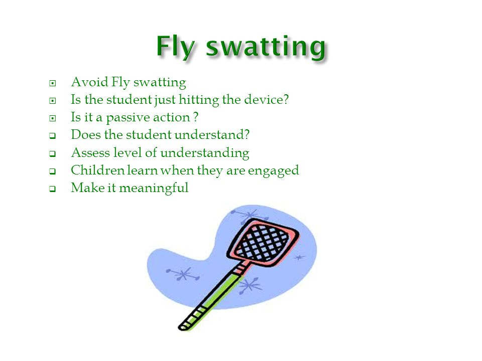 Fly swatting N/ Avoid Fly swatting