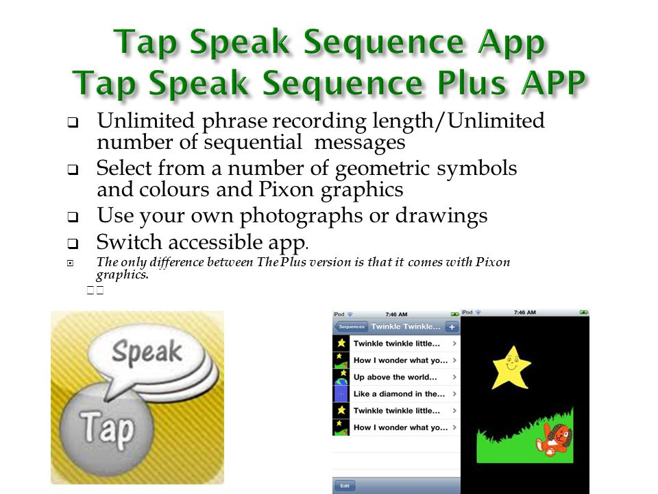 Tap Speak Sequence App Tap Speak Sequence Plus APP