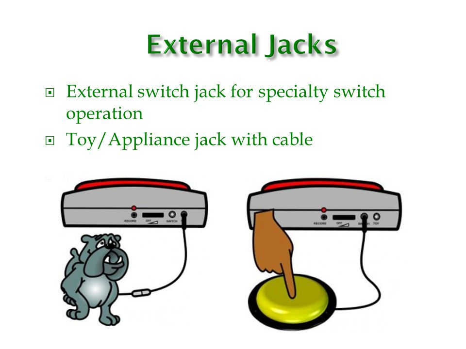 External Jacks N/itch jack for specialty switch