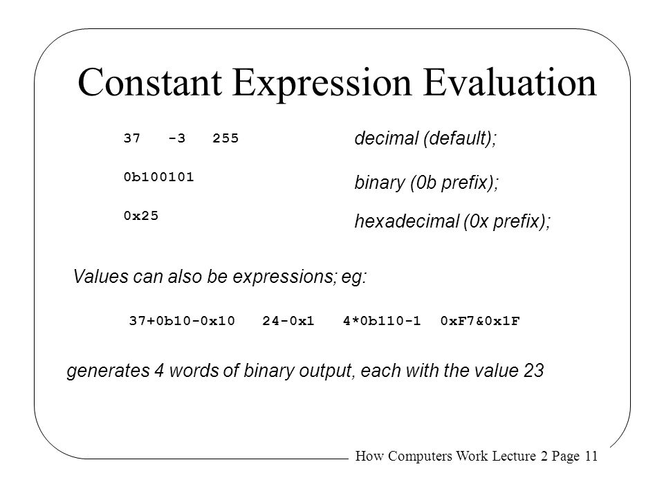 Constant Expression Evaluation