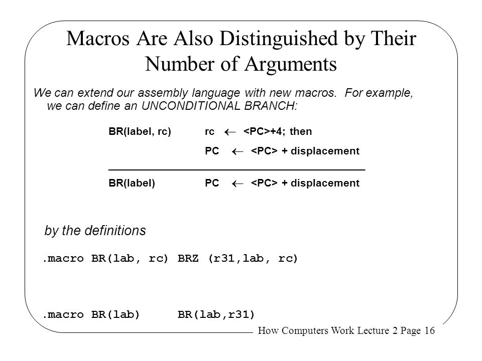 Macros Are Also Distinguished by Their Number of Arguments