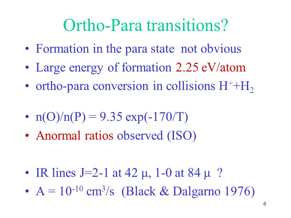 Ortho-Para transitions