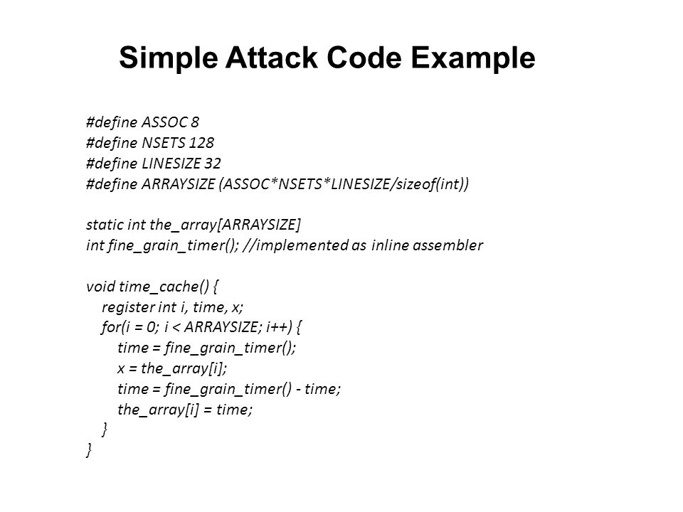 Simple Attack Code Example