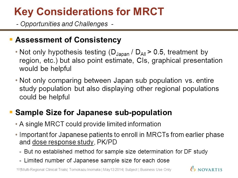 Key Considerations for MRCT