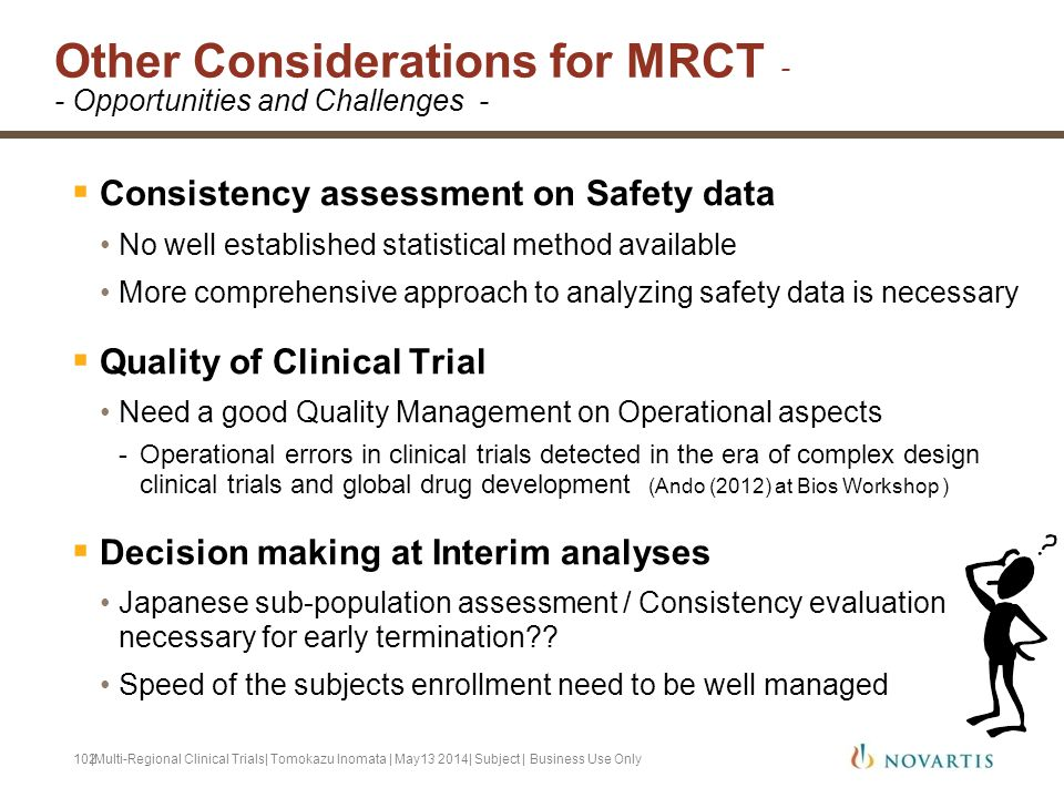 Other Considerations for MRCT -