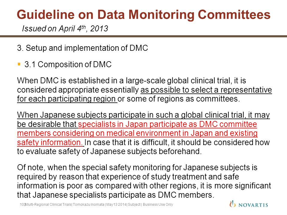 Guideline on Data Monitoring Committees